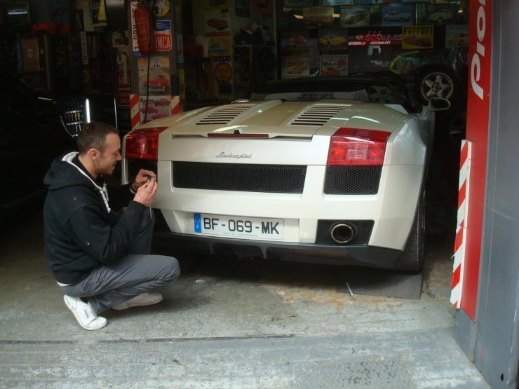 Lamborghini gallardo echappement