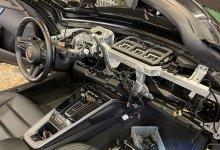 planche de bord Porsche cuir